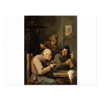 Die Gedränge-Kappe durch David Teniers das jüngere Postkarte