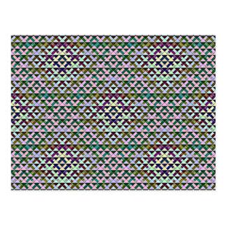 Die gedrehten Dreiecke wandelten kleines um Postkarte