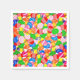 Die gefärbte Feder verzierte Osterei-Party Papierservietten