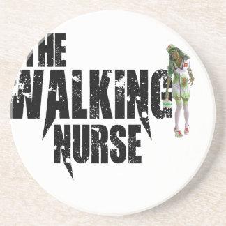Die gehende Krankenschwester Getränkeuntersetzer