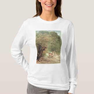 Die gejagten Rogen-Rotwild auf dem Alarm, T-Shirt