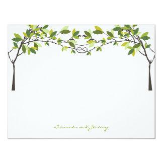 Die geknoteten Liebe-Bäume, die Monogramm Wedding 10,8 X 14 Cm Einladungskarte