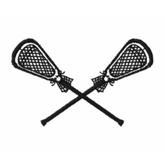 Die gekreuzten Lacrosse-Stöcke stickten Besticktes Poloshirt