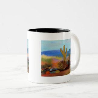 Die gemalte Wüste Zweifarbige Tasse