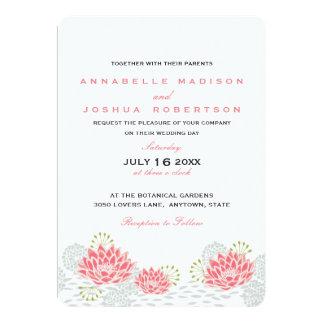 Die gemalten Wedding Wasser-Lilien laden ein Karte