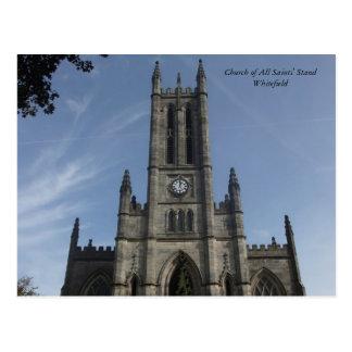Die Gemeinde-Kirche des Stands aller Heiligen, Postkarte