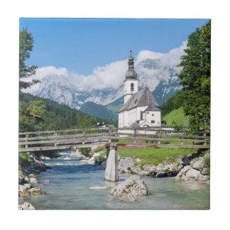 Die Gemeindekirche von Ramsau Fliese