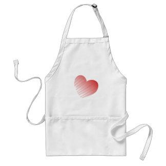 Die Geschenke und die T-Shirts modernen Herz Schürze