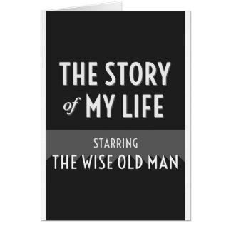 Die Geschichte meines Lebens - der kluge alte Mann Karte