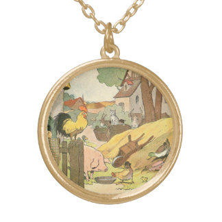 Die Geschichten-Buch-Vieh der Kinder Vergoldete Kette