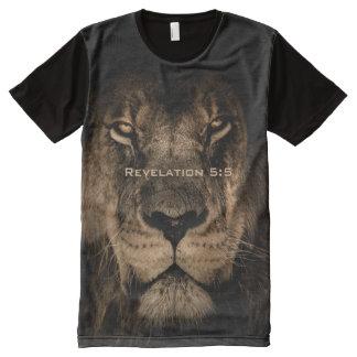 Die Geschöpf-Löwe-Druck alles Gottes T-Shirt Mit Bedruckbarer Vorderseite