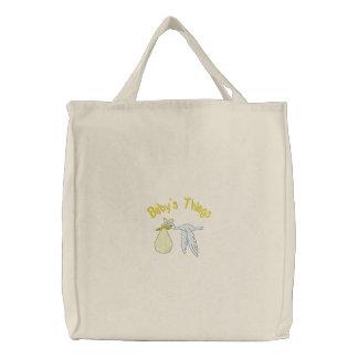 Die gestickte Tasche des gelben Babys Sachen