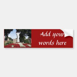 Die gestiegene Jesus Christusstatue Autoaufkleber