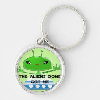 Die getane Außerirdische erhielt mich Silberfarbener Runder Schlüsselanhänger