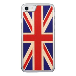 Die Gewerkschafts-Jack-Flagge Großbritanniens - Carved iPhone 8/7 Hülle