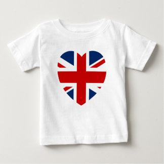 Die Gewerkschafts-Jack-Flaggen-Herzform Baby T-shirt