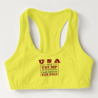 Die Gewohnheit der Frauen trägt BH mit USA zur Sport-BH
