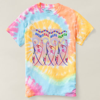 Die gewundene gefärbte Krawatte der Frauen T-shirt