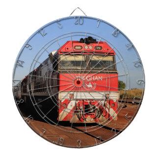 Die Ghan Zuglokomotive, Darwin Dartscheibe