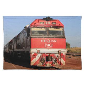 Die Ghan Zuglokomotive, Darwin Stofftischset