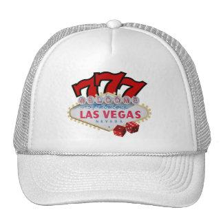 Die glückliche Kappe Las Vegas-Spielers