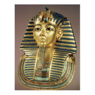 Die Goldbegräbnismaske, vom Grab von Postkarte