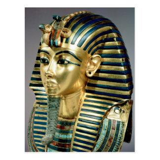 Die Goldbegräbnismaske, vom Grab von Tutankhamun Postkarte