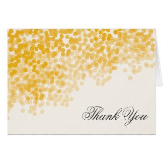 Die goldene helle elegante Dusche danken Ihnen Karte