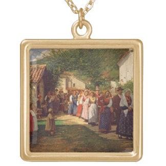 Die goldene Hochzeit (Öl auf Leinwand) Schmuck