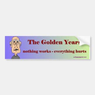 die goldenen Jahre… Autoaufkleber