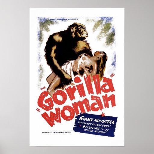 Die Gorilla-Frau Posterdrucke