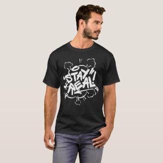 Die Graffiti der Männer: Aufenthalt-wirkliches T-Shirt