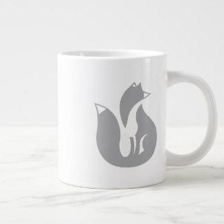 Die grauer Fox-Tasse Jumbo-Tasse