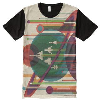 Die großartiger Ausflug NASA-Reise-Plakat ganz T-Shirt Mit Komplett Bedruckbarer Vorderseite