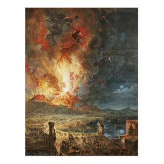 Die große Eruption vom Vesuv Postkarte