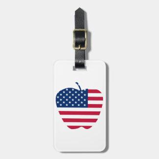 Die große Flagge NYC Apples Amerika Kofferanhänger