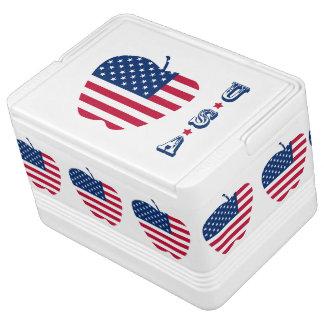 Die große Flagge NYC Apples Amerika Kühlbox