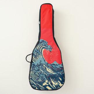 Die große Hokusai Welle in der vibrierenden Gitarrentasche