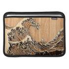Die große Hokusai Wellen-hölzerne Bambusart MacBook Sleeve