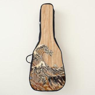 Die große Hokusai Wellen-hölzerne Gitarrentasche