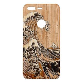 Die große Hokusai Wellen-hölzerne Uncommon Google Pixel Hülle