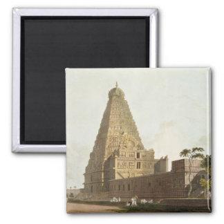 Die große Pagode, Tanjore, Platte XXIV von 'Orient Kühlschrankmagnet