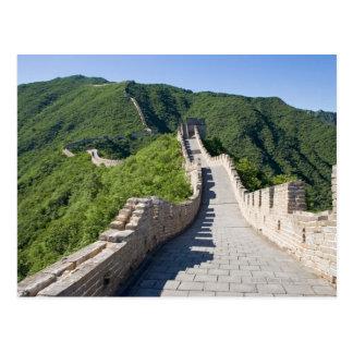 Die große Wand der China in Peking, China Postkarte