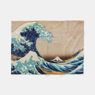 Die große Welle durch Hokusai Fleecedecke