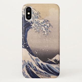 Die große Welle durch Hokusai, Vintage japanische iPhone X Hülle