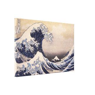 Die große Welle durch Hokusai, Vintage japanische Leinwanddruck