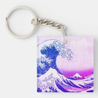 Die große Welle Schlüsselanhänger