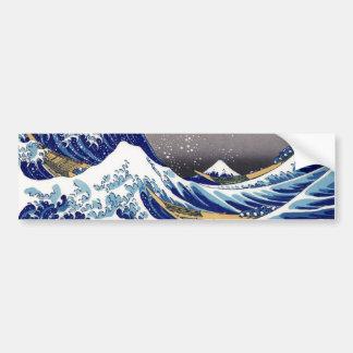 Die große Welle weg von Kanagawa - 神奈川沖浪裏 Autoaufkleber
