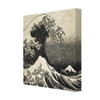 Die große Welle weg von Kanagawa (神奈川沖浪裏) Leinwanddruck