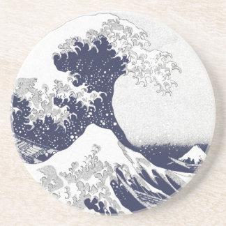 Die große Welle weg von Kanagawa (神奈川沖浪裏) Sandstein Untersetzer